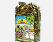 lucerne og solhat urter til kanin